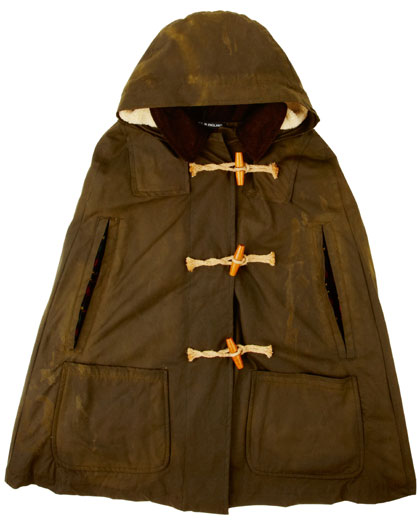 Hooded duffle cape