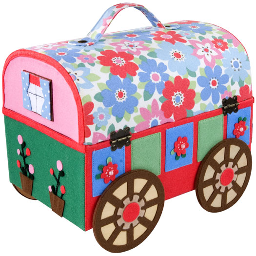 Retro wagon sewing box