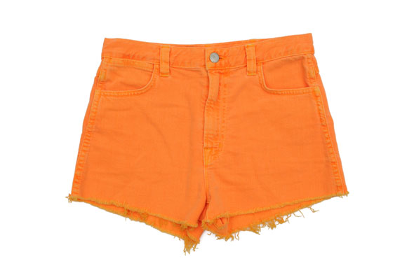 Highlighter-hued cut-off shorts