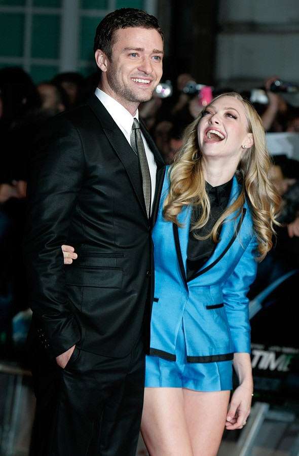 Justin Timberlake and Amanda Seyfried at the London premiere of In Time