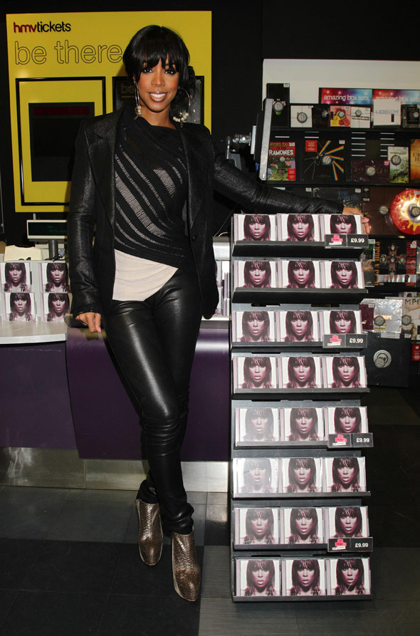 Kelly Rowland does layers, leathers and snakeskin at album launch