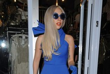 Lady Gaga does ladylike for a shopping trip in London