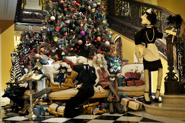 The Claridge's Christmas tree designed by Alber Elbaz for Lanvin
