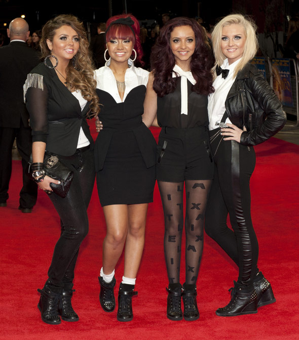 Little Mix rub shoulders with royalty at Hugo premiere