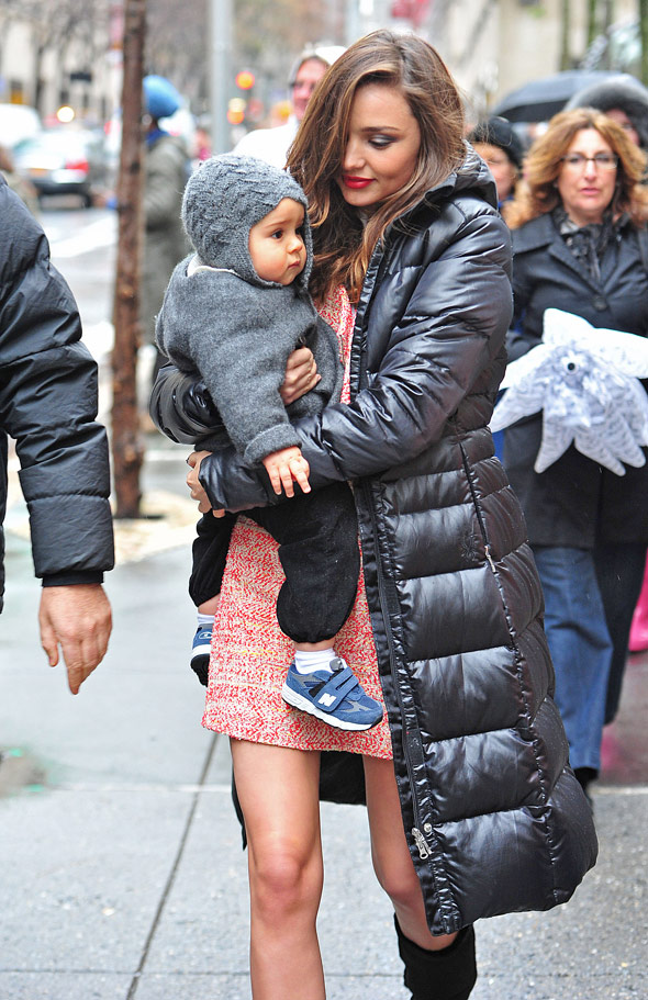 Miranda Kerr eclipsed by adorable son Flynn during NYC fashion shoot