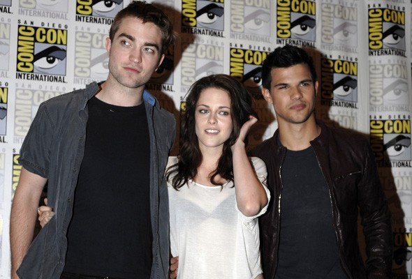 Robert Pattinson, Kristen Stewart and Taylor Lautner at Comic Con