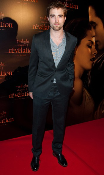 Robert Pattinson at the Paris premiere