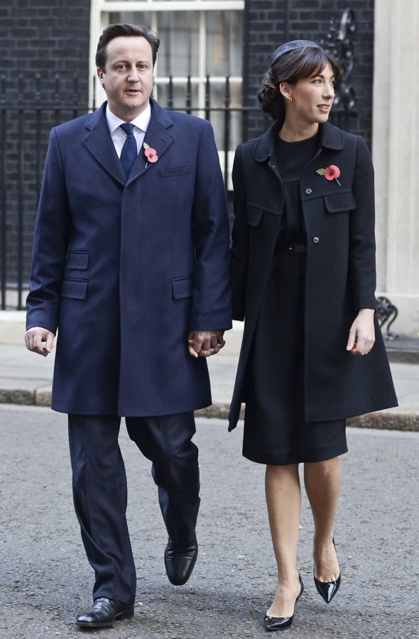 Women in black: Kate Middleton and Sam Cam are super-stylish for Remembrance Sunday