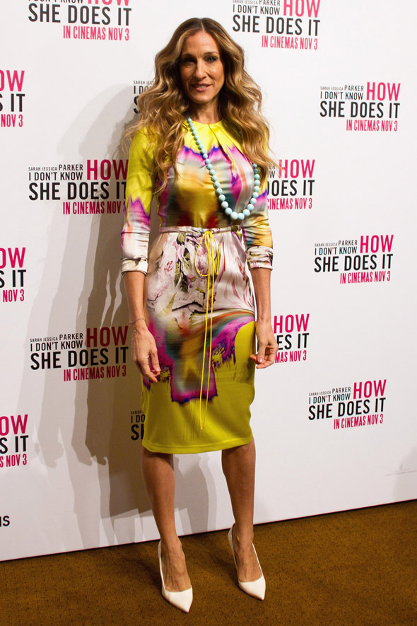 Hot or not: SJP's watercolour-print Vera Wang