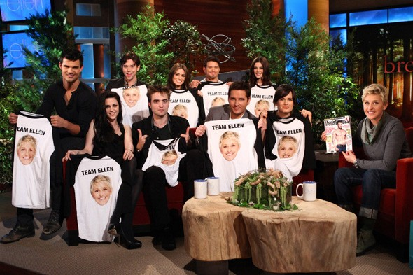 The Twilight cast on the Ellen DeGeneres show