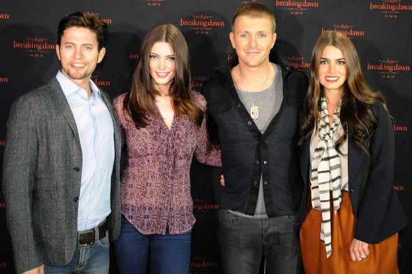 Jackson Rathbone, Ashley Greene, Charlie Bewley and Nikki Reed at the Concert Tour in Atlanta
