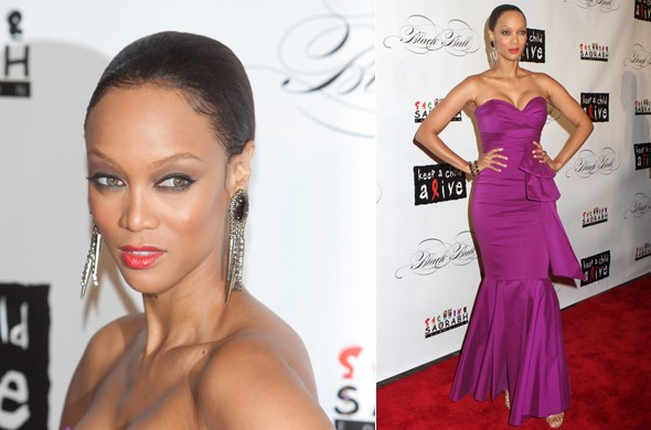 Hot or not: Tyra Banks' chic/severe do