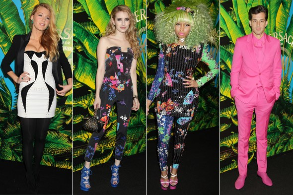 Totally tropical taste: Versace for H&M's star-studded launch