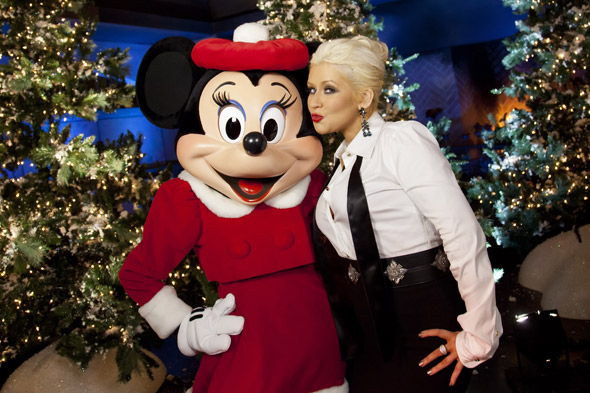 Minnie-Me: Christina Aguilera returns to her Disney roots