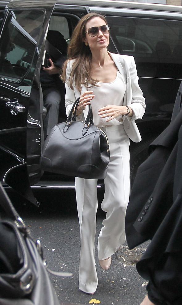 Angelina Jolie is all-white in New York City