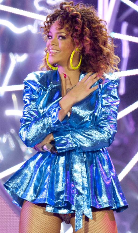Rihanna's outrageous stage outfit