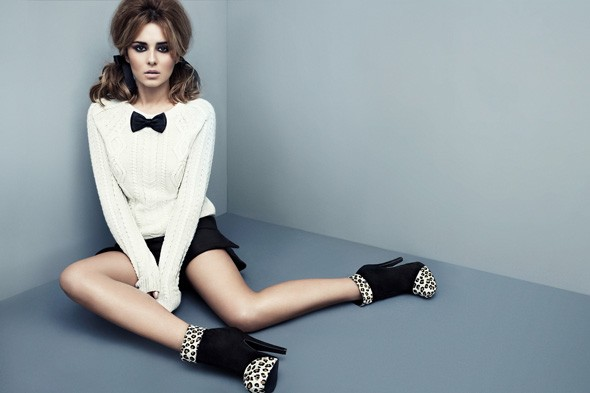 Cheryl modelling the Autumn/Winter 2011 collection