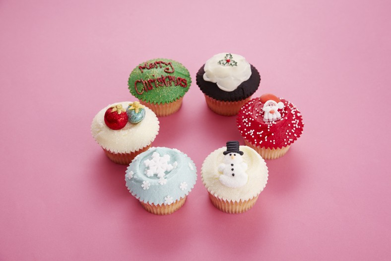 Half Dozen Christmas Cupcakes (pre-order)