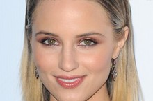 Dianna Agron's beauty lesson: Metallic makeup