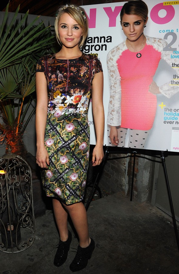 Dianna Agron at the Nylon magazine January issue party