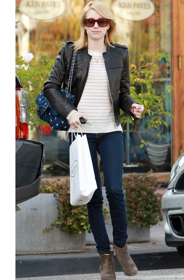Emma Roberts's lesson in casual chic