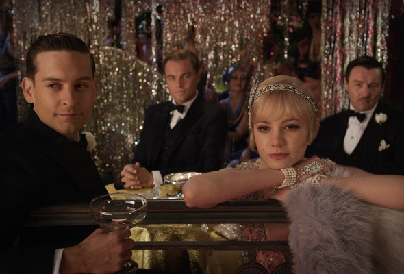Tobey Maguire, Leonardo DiCaprio and Carey Mulligan in the Great Gatsby