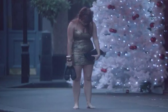 Harvey Nichols Christmas Walk of Shame advert
