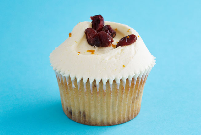 Cranberry and White Chocolate Cupcake - Sunday