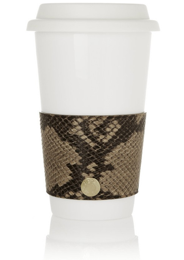 Jimmy Choo launches leather coffee cup holders