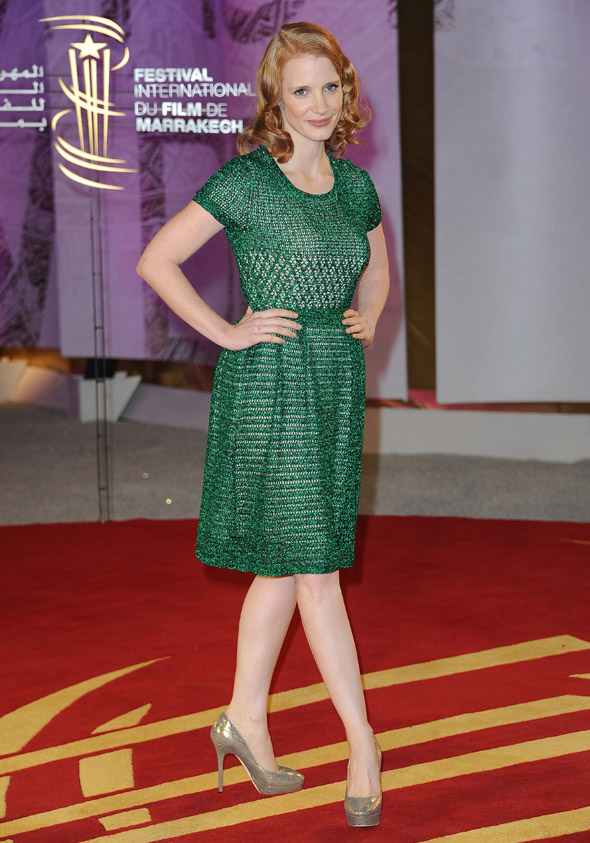 Hot or not: Jessica Chastain goes green for Marrakech Film Festival