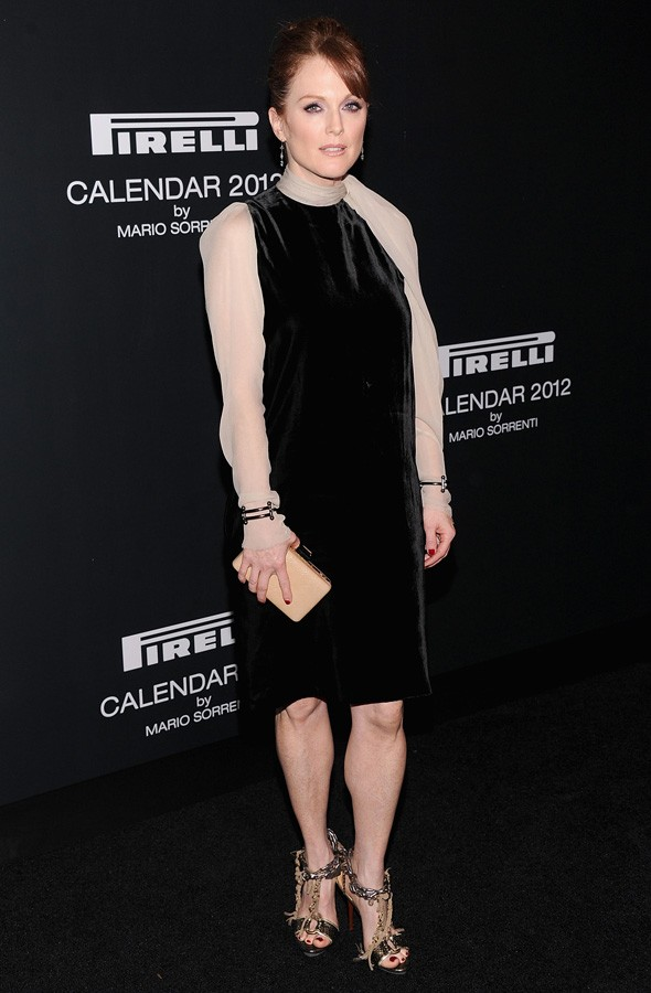 Julianne Moore at the Pirelli calendar launch party