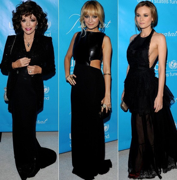 Joan Collins, Nicole Richie, Diane Kruger at the UNICEF ball