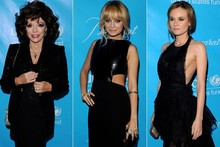 Battle of the LBDs: Nicole Richie, Diane Kruger & Joan Collins at the UNICEF ball