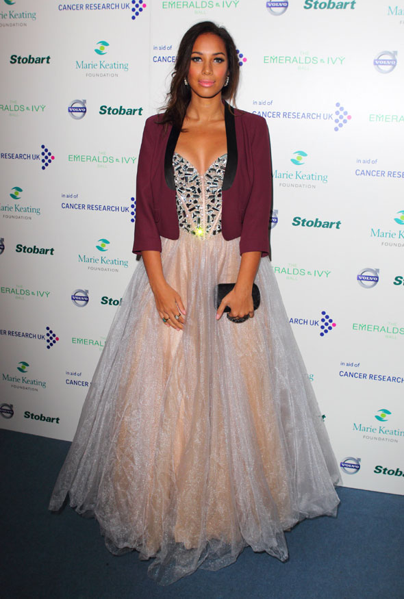Hot or not: Leona Lewis' ballgown-and-blazer combo