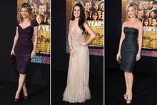 Michelle, Lea and Katherine hit the red carpet for New Year's Eve premiere