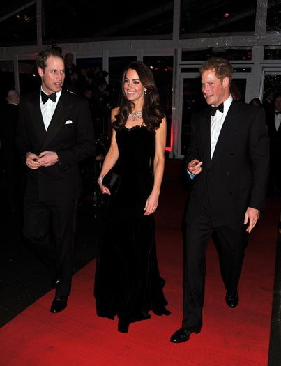 The Duke and Duchess of Cambridge with Price Harry