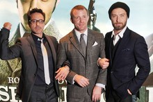 Sherlock Holmes gang hit London for UK premiere