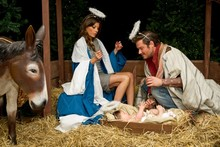 The Beckhams star in Harrods nativity scene