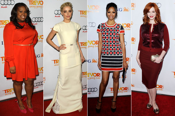 Christina Hendricks, Zoe Saldana et al glam up to attend Trevor Live benefit