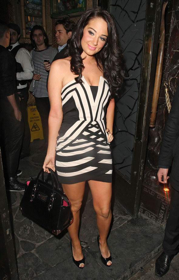 Hot or not: Tulisa goes geometric for a night on the town