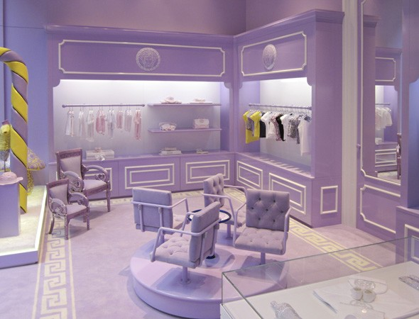 Versace children's clothing store in Milan