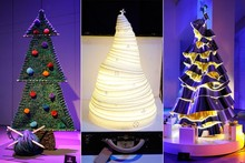PICTURES: Fashion designers create couture Christmas trees