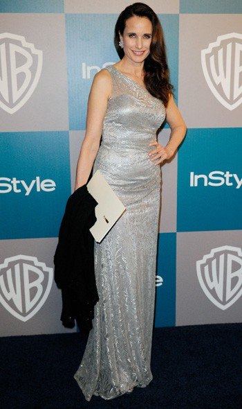 Andie McDowall at the InStyle/Warner Bros party