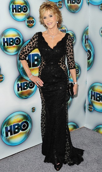 Jane Fonda at the HBO party