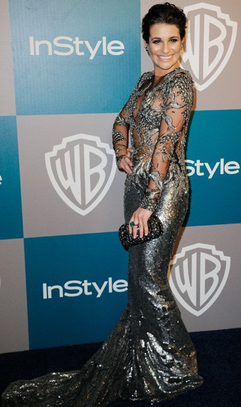 Lea Michele at the InStyle/Warner Bros party