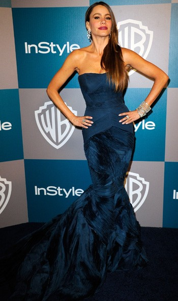 Sophia Vegara at the InStyle/Warner Bros party