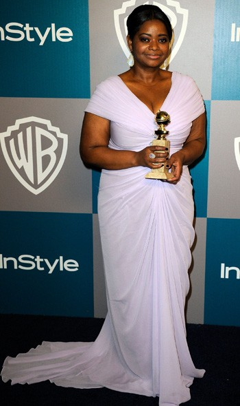 Octavia Spencer at the InStyle/Warner Bros party