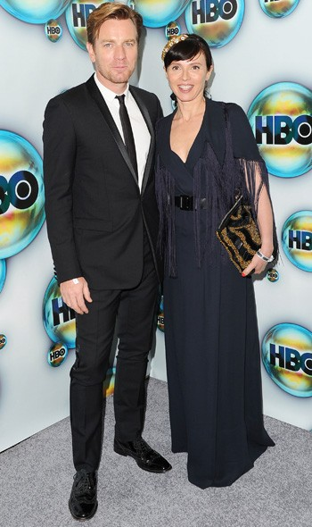 Ewan McGregor and Eve Mavrakis at the HBO party