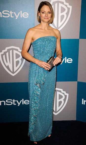 Jodie Foster at the InStyle/Warner Bros party