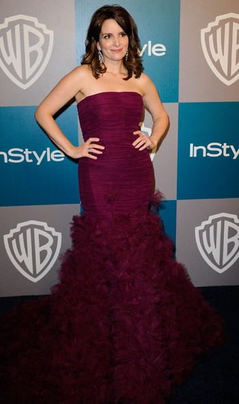 Tina Fey at the InStyle/Warner Bros party